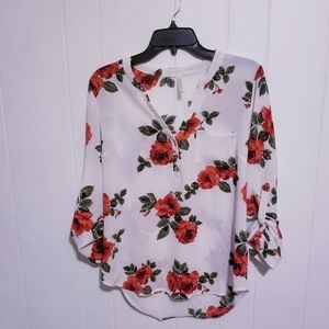 DNA  Couture Women's floral Top Size Small